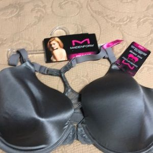 NWT Maidenform 38DD T-Back front closure